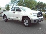 2010 Super White Toyota Tundra Double Cab #28802526