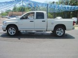 2008 Cool Vanilla White Dodge Ram 1500 Lone Star Edition Quad Cab #28802738