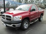 2007 Flame Red Dodge Ram 1500 ST Regular Cab #28802752