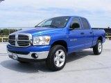 2007 Electric Blue Pearl Dodge Ram 1500 SLT Quad Cab 4x4 #28802590