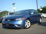 2007 Atomic Blue Metallic Honda Civic EX Coupe #28874783