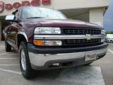 2002 Dark Carmine Red Metallic Chevrolet Silverado 1500 LT Extended Cab 4x4 #28875154
