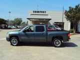 2008 Blue Granite Metallic Chevrolet Silverado 1500 LT Crew Cab #28875161