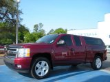 2008 Deep Ruby Metallic Chevrolet Silverado 1500 LT Extended Cab #28874711
