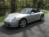 2007 Arctic Silver Metallic Porsche 911 Carrera 4S Cabriolet #28874589
