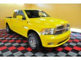 2009 Detonator Yellow Dodge Ram 1500 Sport Quad Cab 4x4 #28875111