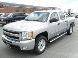 2010 Sheer Silver Metallic Chevrolet Silverado 1500 LT Crew Cab 4x4 #28875253