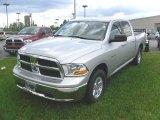 2010 Bright Silver Metallic Dodge Ram 1500 SLT Crew Cab #28875338