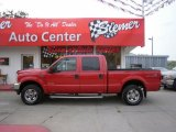 2004 Dark Toreador Red Metallic Ford F250 Super Duty Lariat Crew Cab 4x4 #28936810