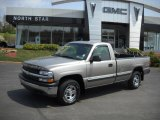 2000 Light Pewter Metallic Chevrolet Silverado 1500 Regular Cab 4x4 #28936681
