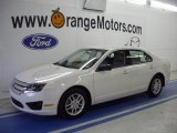 2010 White Suede Ford Fusion S #28936719