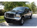 2004 Dark Green Satin Metallic Ford F250 Super Duty Lariat Crew Cab 4x4 #28936728