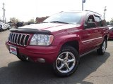 2002 Inferno Red Tinted Pearlcoat Jeep Grand Cherokee Overland 4x4 #28936442