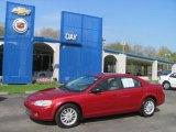2002 Inferno Red Pearl Chrysler Sebring LX Sedan #29004648