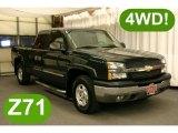 2004 Dark Green Metallic Chevrolet Silverado 1500 Z71 Extended Cab 4x4 #29004806