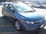 2007 Atomic Blue Metallic Honda Civic EX Sedan #29005079