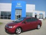 2007 Tango Red Pearl Honda Civic EX Sedan #29005192