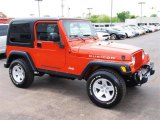 2006 Flame Red Jeep Wrangler Rubicon 4x4 #29004572
