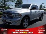 2010 Bright Silver Metallic Dodge Ram 1500 Big Horn Quad Cab #29004735