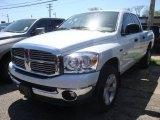 2008 Bright White Dodge Ram 1500 Big Horn Edition Quad Cab 4x4 #29005249