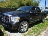 2008 Brilliant Black Crystal Pearl Dodge Ram 1500 Laramie Quad Cab 4x4 #29005251