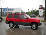 1996 Flame Red Jeep Grand Cherokee Laredo 4x4 #29064969