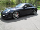 2008 Midnight Blue Metallic Porsche 911 Turbo Cabriolet #29064589