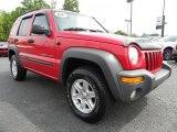 2002 Flame Red Jeep Liberty Sport 4x4 #29064672