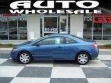 2007 Atomic Blue Metallic Honda Civic LX Coupe #29097611