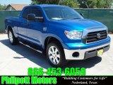 2007 Blue Streak Metallic Toyota Tundra Texas Edition Double Cab 4x4 #29097484