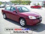 2007 Sport Red Metallic Chevrolet Malibu LT V6 Sedan #29138029