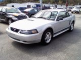 2002 Satin Silver Metallic Ford Mustang V6 Coupe #29137448