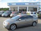 2007 Galaxy Gray Metallic Honda Civic Si Sedan #29137968