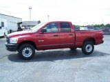 2008 Inferno Red Crystal Pearl Dodge Ram 1500 ST Quad Cab 4x4 #29137981