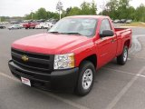 2010 Victory Red Chevrolet Silverado 1500 Regular Cab 4x4 #29138153