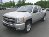 2010 Sheer Silver Metallic Chevrolet Silverado 1500 LT Crew Cab 4x4 #29138159