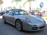 2007 GT Silver Metallic Porsche 911 Carrera Cabriolet #29201175