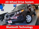 2011 Dark Cherry Kia Sorento LX AWD #29201196