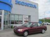 2002 Radiant Ruby Red Pearl Honda Civic LX Sedan #29201144