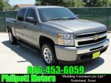 2009 Graystone Metallic Chevrolet Silverado 1500 LT Crew Cab #29201318