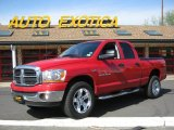 2006 Flame Red Dodge Ram 1500 SLT Quad Cab 4x4 #29201709