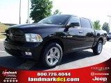 2010 Brilliant Black Crystal Pearl Dodge Ram 1500 Sport Crew Cab #29266188