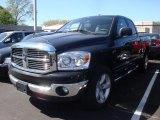 2008 Brilliant Black Crystal Pearl Dodge Ram 1500 SLT Quad Cab 4x4 #29266782