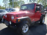 2006 Flame Red Jeep Wrangler Sport 4x4 #29266789
