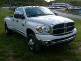 2007 Bright White Dodge Ram 3500 SLT Quad Cab 4x4 Dually #29266844