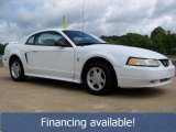 2000 Crystal White Ford Mustang V6 Coupe #29266682