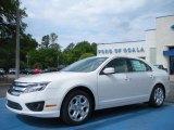 2010 White Platinum Tri-coat Metallic Ford Fusion SE #29342408