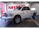 2010 Stone White Dodge Ram 1500 Big Horn Quad Cab #29342550