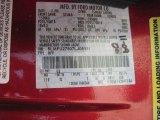 2007 Navigator Color Code for Vivid Red Metallic - Color Code: G2