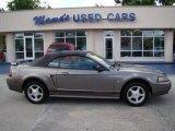 2001 Mineral Grey Metallic Ford Mustang V6 Convertible #29404538